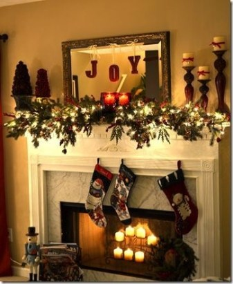Gorgeous Christmas Mantel For Fireplace Decorate In Your House 50