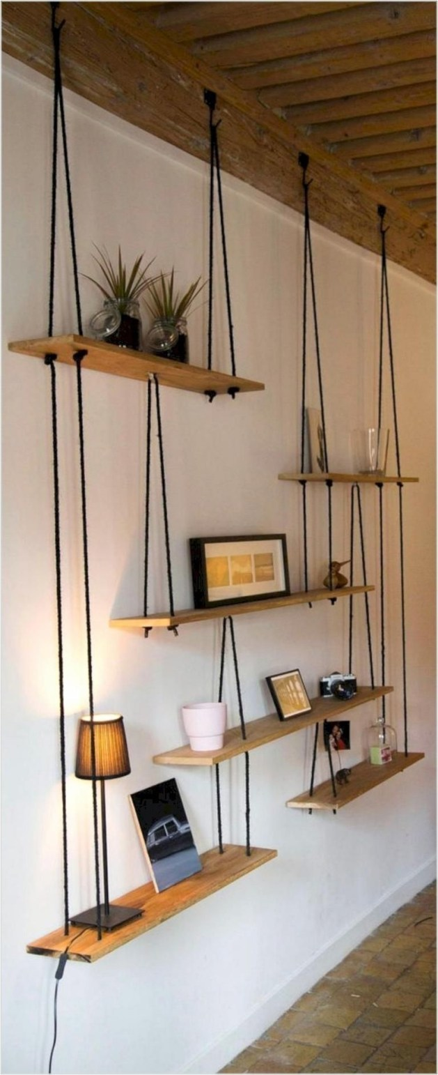 Hanging Shelves Decoration You Can Put In Your Wall 18