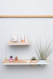 Hanging Shelves Decoration You Can Put In Your Wall 31