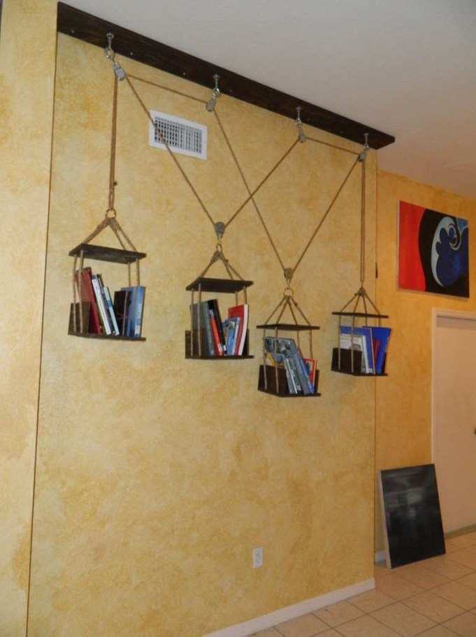 Hanging Shelves Decoration You Can Put In Your Wall 32