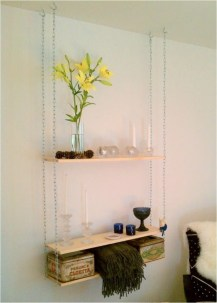 Hanging Shelves Decoration You Can Put In Your Wall 35