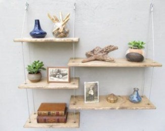 Hanging Shelves Decoration You Can Put In Your Wall 41