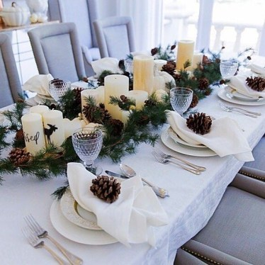 Tips To Make DIY Christmas Table Decorations 28