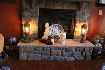Winter Fireplace Decoration Ideas 06