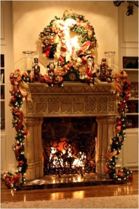 Winter Fireplace Decoration Ideas 15