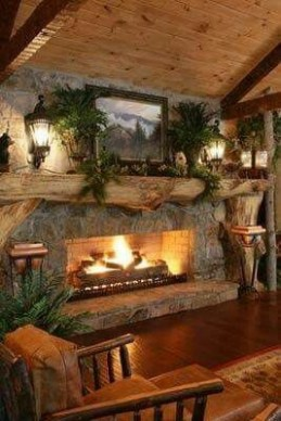 Winter Fireplace Decoration Ideas 33