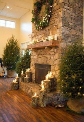 Winter Fireplace Decoration Ideas 43