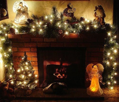 Winter Fireplace Decoration Ideas 52