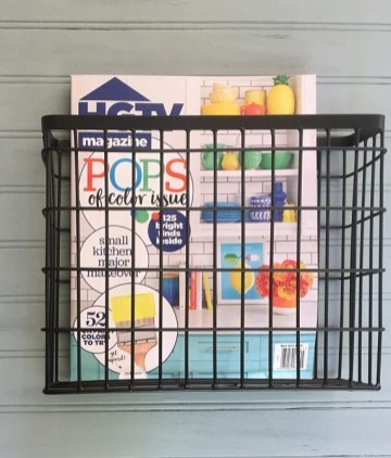 Wire Basket Ideas You Can Make For Storage 30