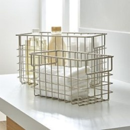 Wire Basket Ideas You Can Make For Storage 38