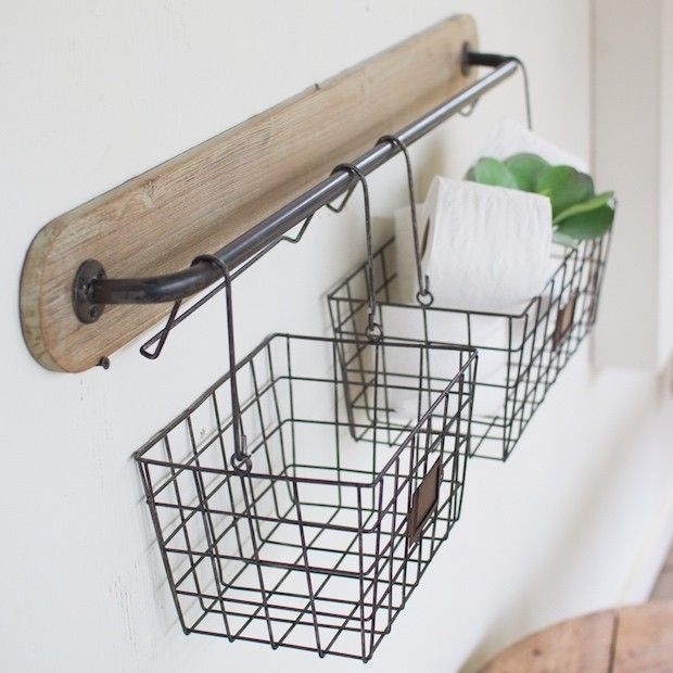 Wire Basket Ideas You Can Make For Storage 58