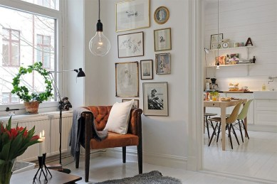 Awesome Scandinavian Style Interior Apartment Decoration 08