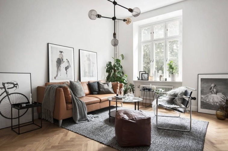 Awesome Scandinavian Style Interior Apartment Decoration 39