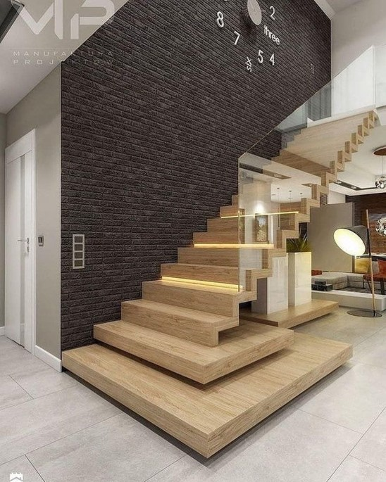 Best And Elegant Wooden Stairs In Your House 20