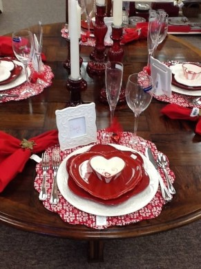 Romantic Table Decoration For Valentine's 34