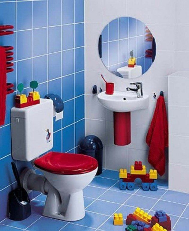 Stunning Colorful Bathroom Decoration For Your Kids 24