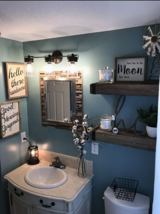 Vintage Farmhouse Bathroom Decor You Will Try 12