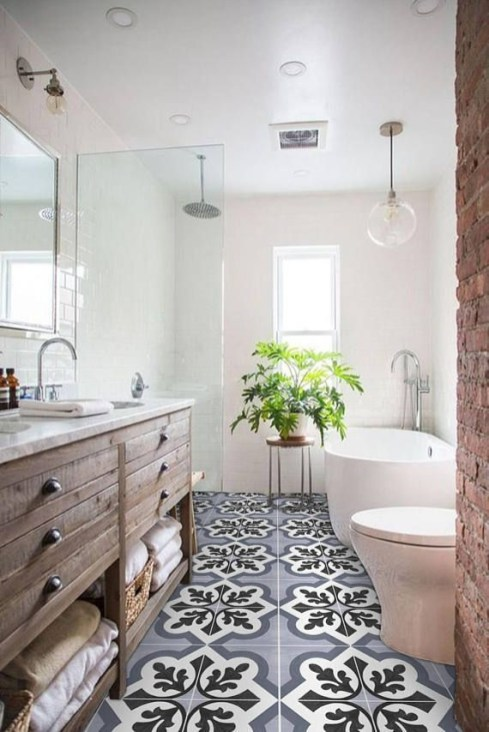 Vintage Farmhouse Bathroom Decor You Will Try 21
