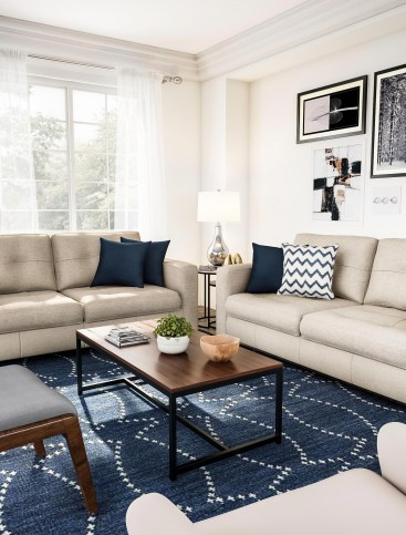 Cozy And Simple Rug Idea For Small Living Room 06