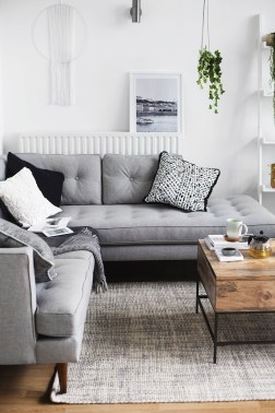 Cozy And Simple Rug Idea For Small Living Room 16