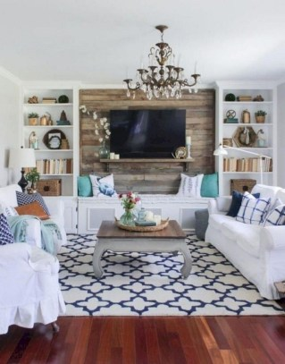 Cozy And Simple Rug Idea For Small Living Room 23