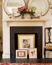 Spring Mantel Decorating Ideas For Fireplace In Living Room 19