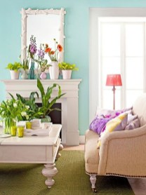 Spring Mantel Decorating Ideas For Fireplace In Living Room 31