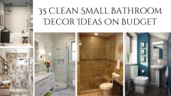 35 Clean Small Bathroom Decor Ideas On Budget