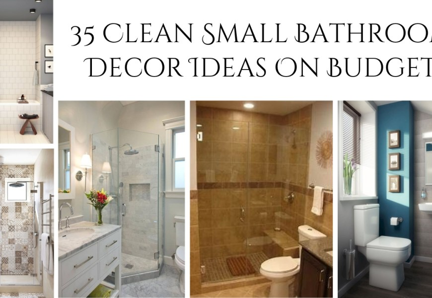 9 Clean Small Bathroom Decor Ideas On Budget - rengusuk.com