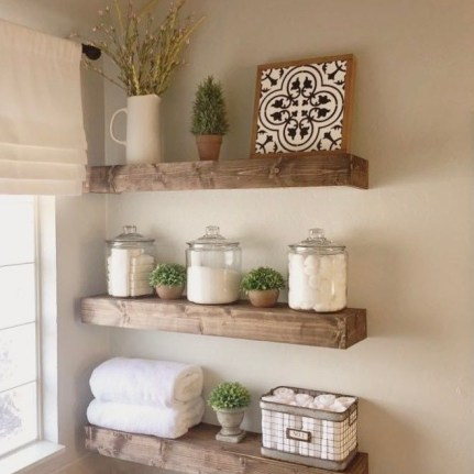 DIY Floating Shelves Bathroom Decor You Must Have 39