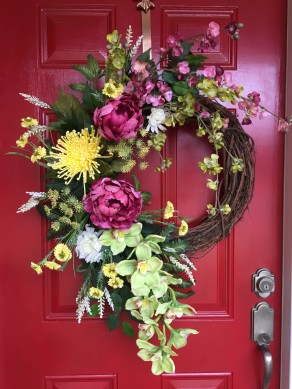 DIY Simple Spring Wreath For Your Door 20