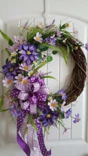 DIY Simple Spring Wreath For Your Door 25