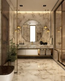 Elegant Modern Bathroom Design For Luxury Style 27