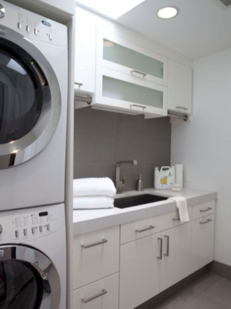 Ways To Make Small Laundry Room To Look Big Space 03