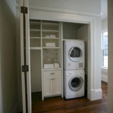 Ways To Make Small Laundry Room To Look Big Space 06