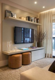 Amazing Small Living Room Decor Idea For Your First Apartment 28