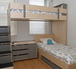 Amazing Double Bed For Teen College Bedroom 05