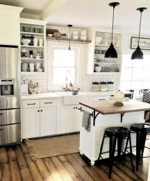Best DIY Farmhouse Kitchen Decorating Ideasl 39