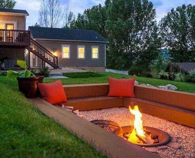 Amazing DIY Fire Pit Idea For Cold Day 35
