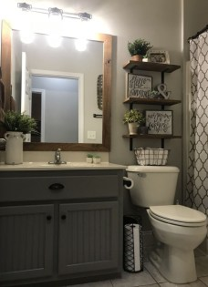 Amazing Farmhouse Bathroom Decor For Small Space 19
