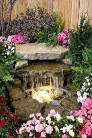 Awesome DIY Ponds Ideas With Small Waterfall 02