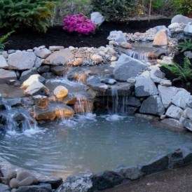 Awesome DIY Ponds Ideas With Small Waterfall 07