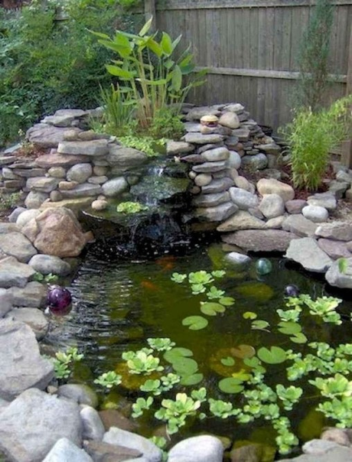 Awesome DIY Ponds Ideas With Small Waterfall 09
