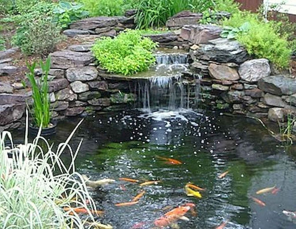 Awesome DIY Ponds Ideas With Small Waterfall 17