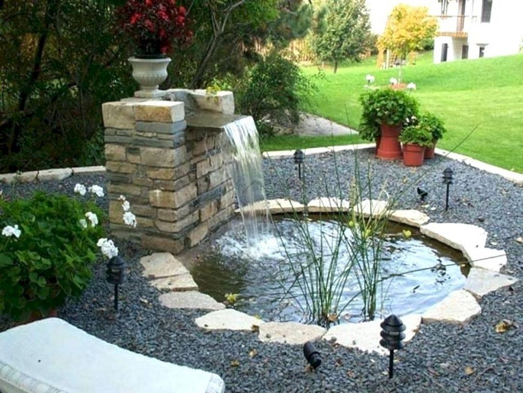 Awesome DIY Ponds Ideas With Small Waterfall 20