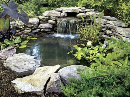 Awesome DIY Ponds Ideas With Small Waterfall 29