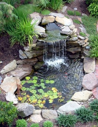 Awesome DIY Ponds Ideas With Small Waterfall 31