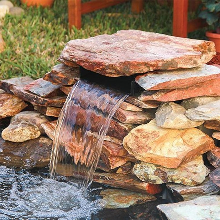 Awesome DIY Ponds Ideas With Small Waterfall 32