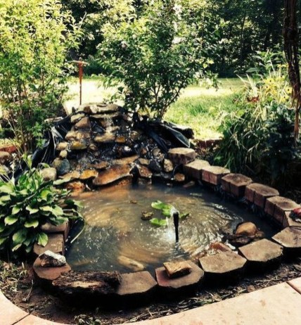 Awesome DIY Ponds Ideas With Small Waterfall 35