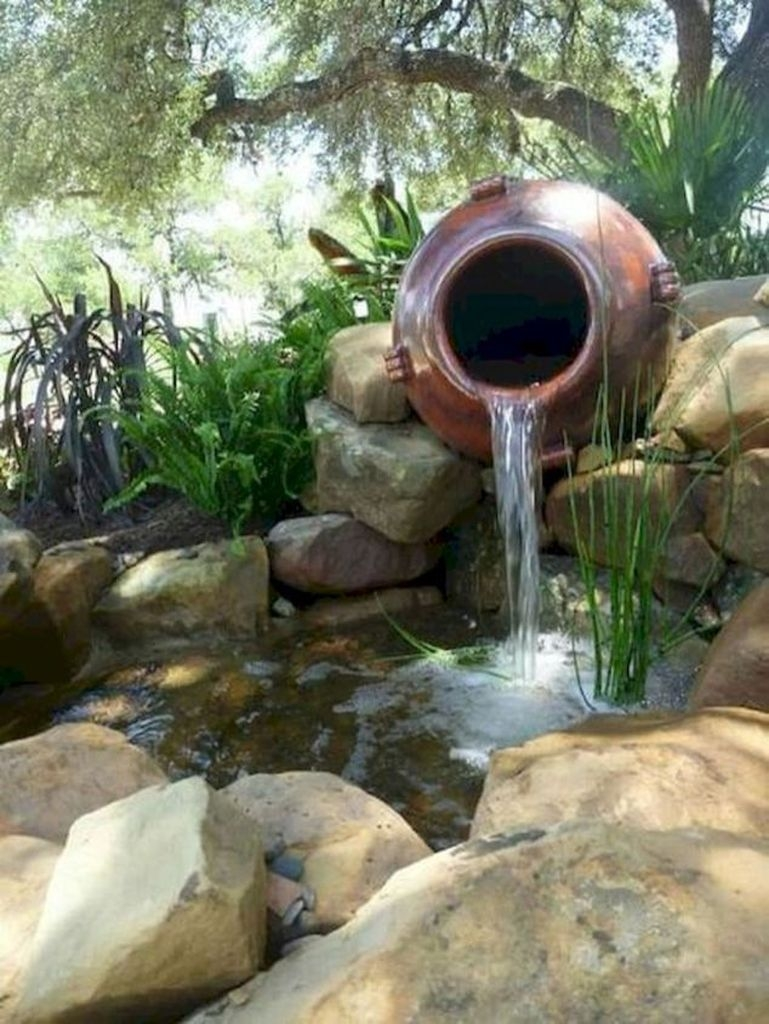Awesome DIY Ponds Ideas With Small Waterfall 38